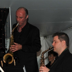 16. Sax players Dan Willis and Vito Chiavuzzo (2)