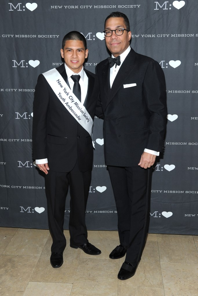 ?, Valentino Carlotti== NYC Mission Society Champions for Children Gala Arrivals== The Plaza, NYC== March 12, 2014== ©Patrick McMullan== Photo - Owen Hoffmann/ PatrickMcMullan.com== ==