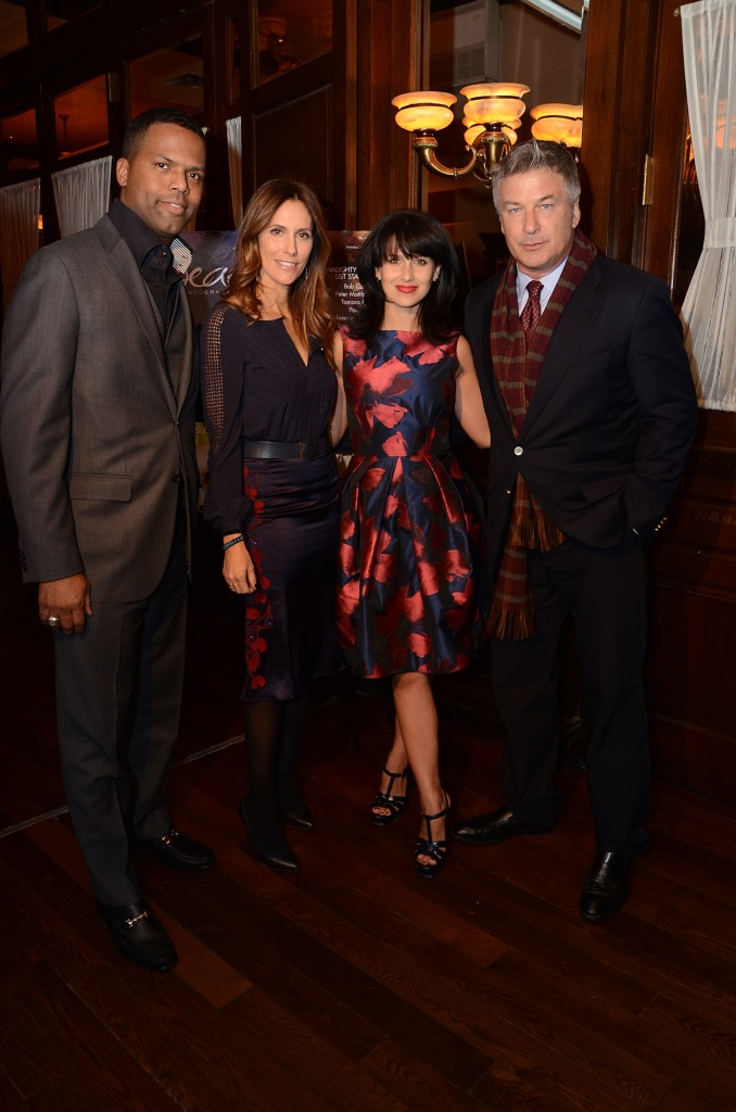 AJ Calloway, Cristina Cuomo, Hilaria Baldwin and Alec Baldwin at the Beach Magazine event at Bobby Vans 1.28.14 - photo by Andrew Werner
