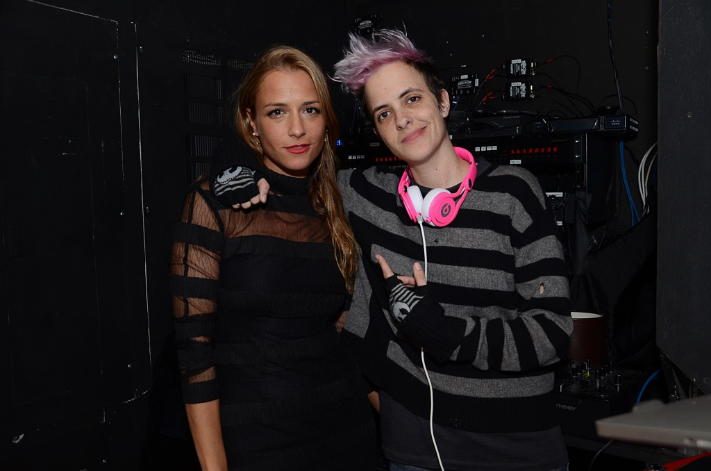 Charlotte Ronson and Samantha Ronson at Manhattan Magazine Charlotte Ronson After Party 2.7.14 - photo by Andrew Werner, AHW_1314