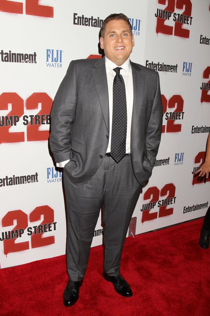 """- New York, NY - 6/4/14 - Fuji Water and Entertainment Weekly Present the New York Screening of """"22 Jump Street""""  . The Film Stars Jonah Hill and Channing Tatum. -PICTURED: Jonah Hill -PHOTO by: Dave Allocca/Starpix -File name: DA_14_922954.JPG -Location: AMC Lincoln Square For licensing please call 212-414-9464 or email sales@startraksphoto.com"""